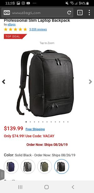 Ebags professional slim laptop backpack for Sale in Santa Ana, CA