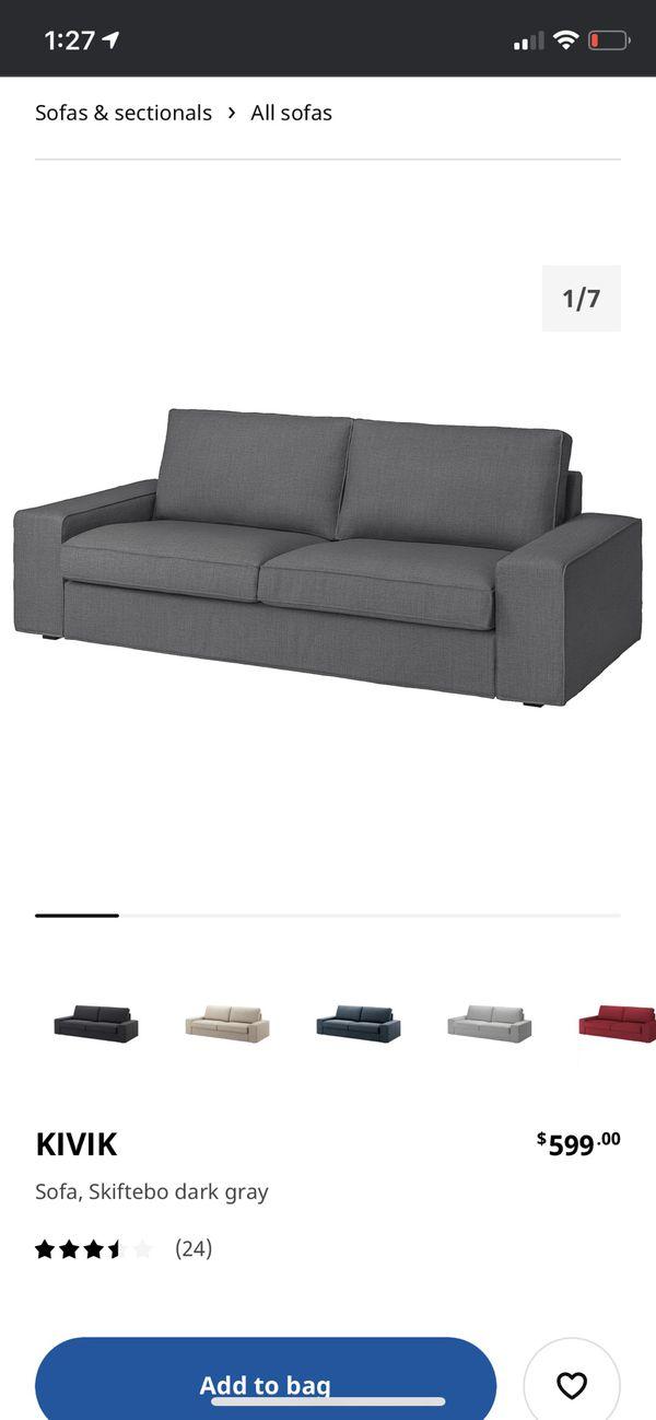 2 IKEA Kivik Sofas with ottoman