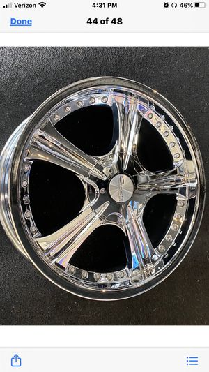 """Set 17"""" Giovanna Corsica, chrome, new inbox5x4.5 and 5x100, fit most FWD cars, sell a 4 rims, $599.00. for Sale in Pomona, CA"""