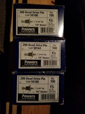 Head drive pin power fastner 3boxes for Sale in San Diego, CA