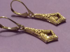 14k solid vintage earrings for Sale in Joint Base Lewis-McChord, WA