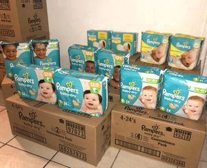 Pampers all sizes! Nb,1,2,3,4,5,6 for Sale in Las Vegas, NV