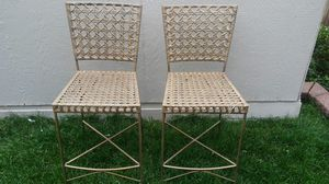"""2 Metal Chairs 16"""" x 16"""" x 39"""" tall for Sale in Aurora, CO"""