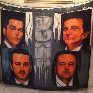 GOODFELLAS GIANT AIRBRUSH PAINTING **** $1,999.00 ONLY ONE MADE ONE OF A KIND OVER 5ft TALL for Sale in Boynton Beach, FL