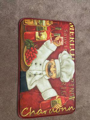Chef wine kitchen mat for Sale in Brighton, CO
