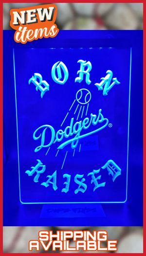 """⚾🏆⚾NEW SUPER BRIGHT 12""""×8"""" 3D DODGERS LA CHAMPIONS LED NEON LIKE SIGN⚾ MAN CAVE. BAR. GARAGE. NIGHT LIGHT⚾🏆⚾ for Sale in Ontario, CA"""