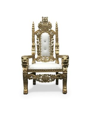 Free nationwide delivery | kids Throne chairs king queen princess royal baroque wedding event party photography hotel lounge boutique furniture for Sale in Dallas, TX