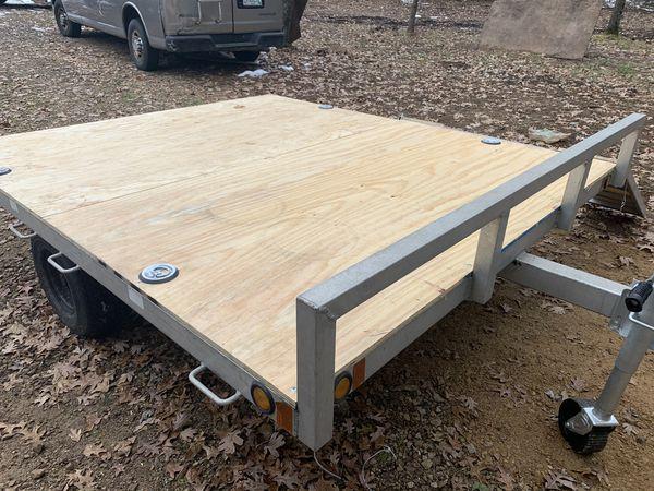 Double aluminum trailer