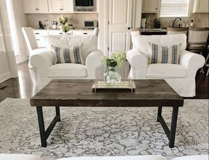 Reclaimed wood coffee table with iron legs for Sale in Spring Hill, TN
