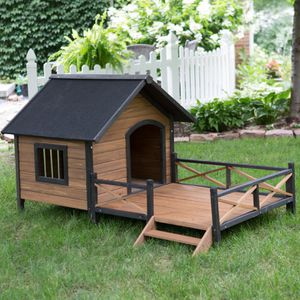 Lodge House with Porch Dog House Large Outdoor Use for Sale in Los Angeles, CA