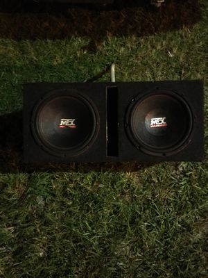 "MTX 12"" inch subwoofers in ported box for Sale in Fort Pierce, FL"