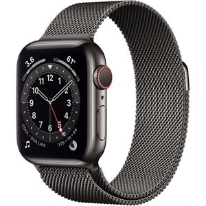 Apple Watch Series 6 (GPS + Cellular, 40mm, Graphite Stainless Steel, Graphite Milanese Loop Band) for Sale in Dublin, OH