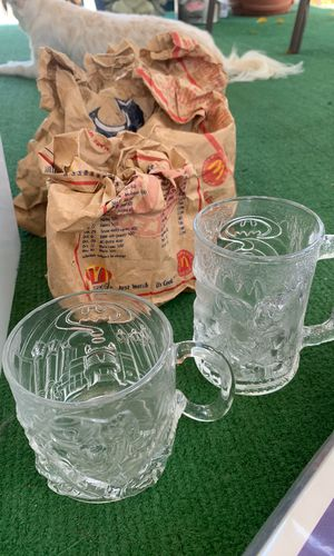 6 McDonald's collectible action figure glass cups for Sale in Rialto, CA