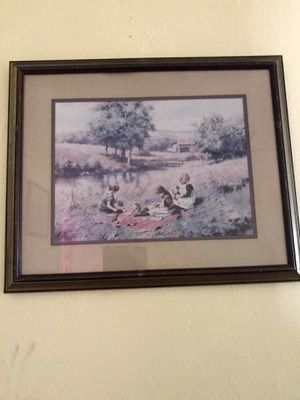 Cute old pictures framed THE GIRLS IN THE COUNTRY SIDE for Sale in Sunny Isles Beach, FL