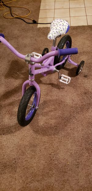 "Raleigh bike Jazzi 12"" kids bike with training wheels new for Sale in Peoria, AZ"