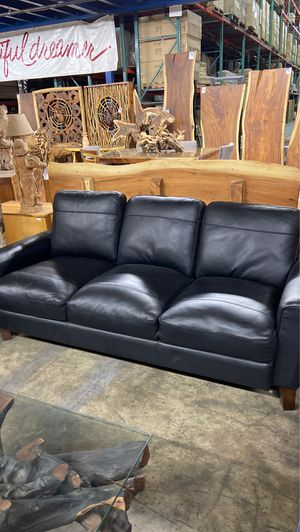 Genuine Leather Sofa Available in Grey, Black, Ocean & Sand for Sale in Vancouver, WA