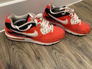 Nike Air Max Wright Shoe Mens size 10 LASER CRIMSON WHITE for Sale in San Antonio, TX