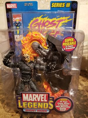 GHOST RIDER Marvel Legends Series III Toy Biz Action Figure w/ Comic Book for Sale in Florissant, MO