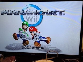 Nintendo Wii With Mario Kart 1 Control for Sale in Dinuba,  CA