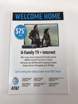 U-Verse + Internet for Sale in Houston, TX