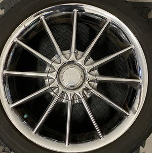 4rims universal 17in chrome center caps included for Sale in Las Vegas, NV
