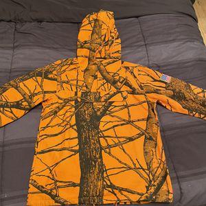 Supreme Orange FW12 Field Pullover Coat Medium for Sale in Atlanta, GA