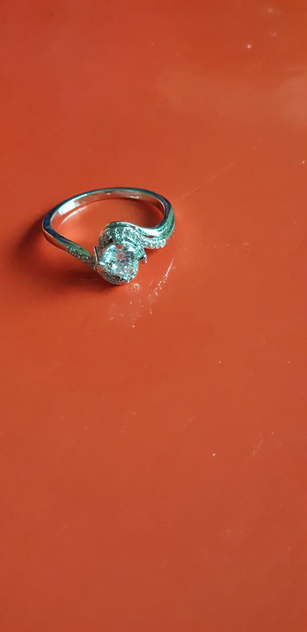 Silver plated wedding ring size 6.5/7