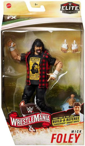 "WWE Wrestling Elite Collection WrestleMania 22 Mick Foley Action Figure [Build Referee ""Dangerous"" Danny Davis!] for Sale in Yakima, WA"