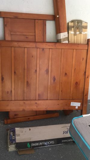 Pottery barn bed frame(includes a mattress) for Sale in Fort Lauderdale, FL