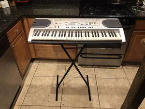 Casio keyboard electronic piano model LK 45 light up keys w/ stand for Sale in Phoenix, AZ