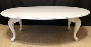 Shabby Chic White Coffee Table Living Room Table Chalk Painted for Sale in Crofton, MD