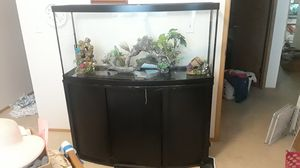 72 gal bowfront aquarium for Sale in Tigard, OR
