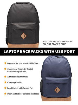 Backpack School Laptop With USB Port Men Woman Kids for Sale in Pembroke Pines, FL