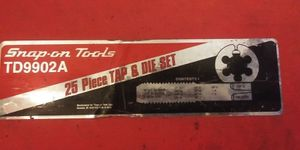 SNAP-ON TOOLS TD9902A 25 PIECE TAP& DIE SET for Sale in Portland, OR