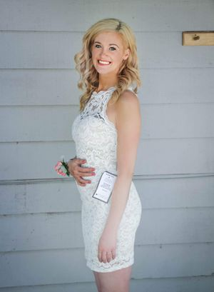 NWT Size 2/4 Lacy off white short tight wedding or formal dress for Sale in Lynnwood, WA