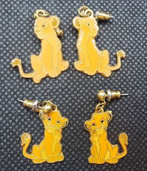 Vintage 90s Disney Lion King earrings Simba and Nala **$5 each pair** for Sale in Davis, CA