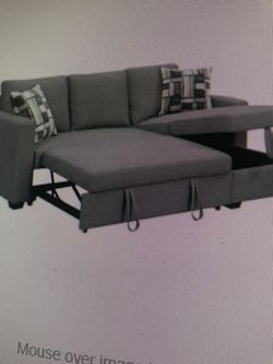 Sofa With Pull Out Bed ON SALE WITH STORAGE CHAISE for Sale in Federal Way,  WA