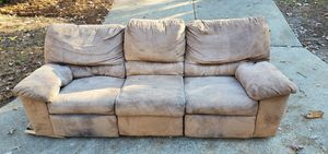 COUCH - Recliner Sofa at both ends >>> FREE!!! for Sale in Holly Springs, NC