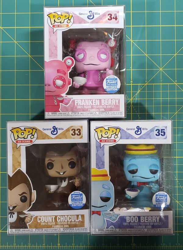 Funko Pop - General Mills - Count Chocula/Boo Berry/Franken Berry