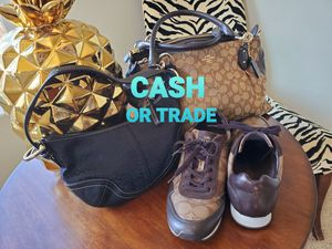 Coach purse, small purse, 9.5 shoes for Sale in Puyallup, WA