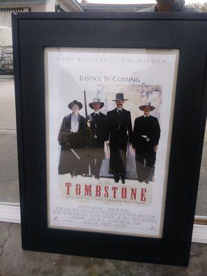 Tombstone movie framed poster for Sale in La Mirada, CA
