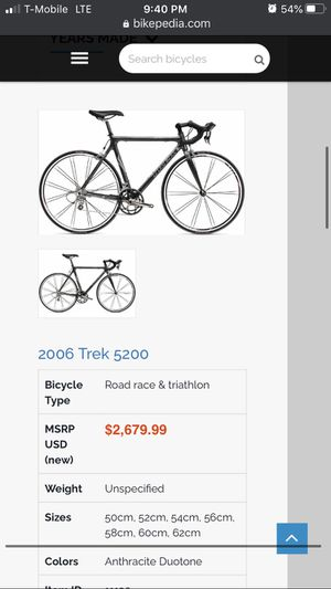 Carbon Trek bike for Sale in Hayward, CA