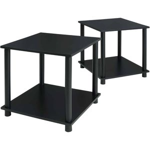 Set of 2 black end table bedside nightstand plant stand display sofa side table for Sale in Colorado Springs, CO