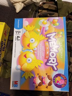 Memory kids game for Sale in Upland, CA
