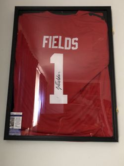 Justin Fields Autographed Jersey (Frame Not Included) for Sale in Pittsburgh,  PA
