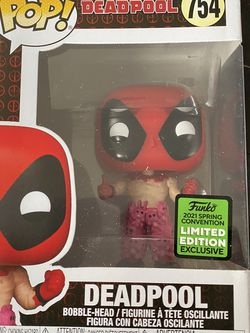 Funko Pop! Marvel 2021 ECCC Shared Exclusive - Deadpool W/ Teddy Bear Pants #754 for Sale in Los Alamitos,  CA