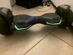 Gyroor Hoverboard Warrior 8.5 inch All Terrain Off Road Hoverboard with Music Speakers and LED Lights,UL2272 Certified Self Balancing Hoverboards for Sale in Miami Beach, FL