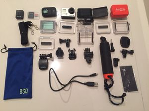 GoPro Hero3+ Black with lots of accessories and extras for Sale in Miami, FL