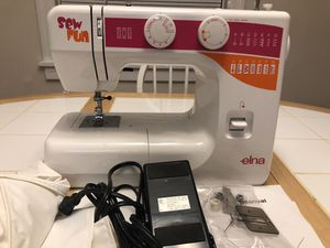 Elna sew fun sewing machine - used 4 times for Sale in Pittsburgh, PA