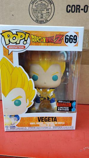 Funko Pop Dragon Ball Z Vegeta final Flash #669 (2019 NEW YORK Comic Con Excl) for Sale in Costa Mesa, CA